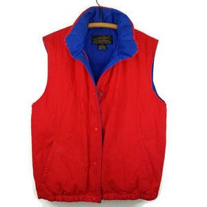 Eddie Bauer Red Goose Down Puffer Vest Mens Medium